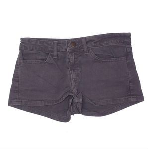 American Apparel | gray denim jean punk shorts